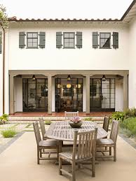 Spanish Colonial Dining Chairs Los Angeles French Door Shutters Patio Traditional With Spanish