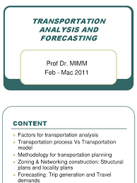 Trip Generation Spreadsheet Uthm 5 Note Lecture Mka 2133 Transportation Analysis And