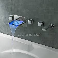 bathtub faucet wall mount high end waterfall wall mount bathtub faucet with hand shower