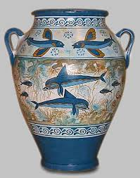 Dolphin Vase Reproduction Of A Minoan Dolphin Pot Not Old Bilder
