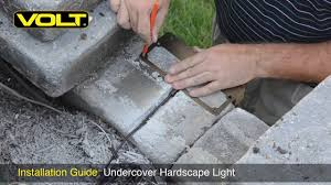How To Install Led Landscape Lighting Volt Undercover Hardscape Light Landscape Lighting