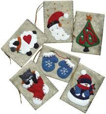 rachels of greenfield gift bag ornaments felt applique