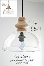 Diy Glass Pendant Light Diy Glass Pendant Light Fixture Knockoff Duckling House