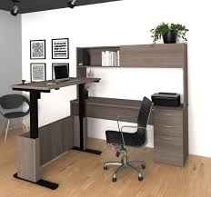 Grey L Shaped Desk by Adjustable L Shaped Desk With Hutch