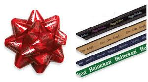 imprinted ribbon printed ribbon bows