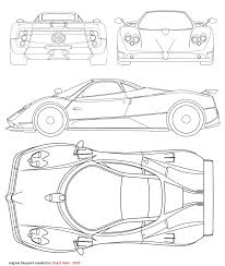 pagani drawing tutorials3d com blueprints pagani zonda c21