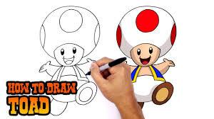 draw toad super mario bros