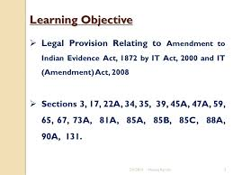 sections in law amendments of the indian evidence act 1872 neeraj aarora advocate