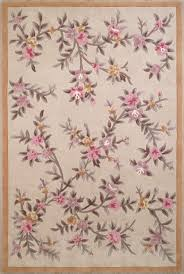 Modern Floral Rugs Rugs Curtains Rectangular Beige Pink Floral Area Rug For