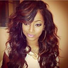 weave hair dos for black teens full sew in with highlights black girls hairstyles pinterest