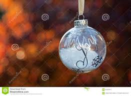 christmas ornament with the word joy stock photo image 62220317