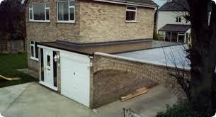 split level garage i tec flat roofing fibre glass flat roofing garage roofs