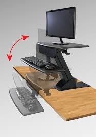 Stand Or Sit Desk by Amazon Com Kantek Desk Clamp Mounted Sit To Stand Workstation
