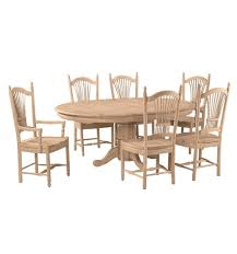 54x54 72 inch butterfly dining table bare wood fine wood