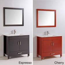 36 In Bathroom Vanity With Top by Legion 36 Inch Bathroom Vanity Espresso Or Cherry Finish With