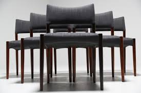 aksel bender madsen set of 6 rosewood dining chairs