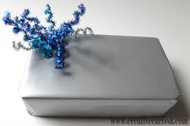 impressive dollar store gift wrap ideas blue silver and snow