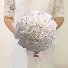 bridesmaid bouquet genie white burgundy wedding flowers bridal bridesmaid bouquets
