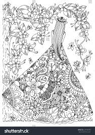 blossom tree coloring book for doodles for meditation