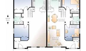 new american floor plans eplans new american house plan duplex identical floor plans home