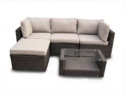 Manchester Rattan Furniture Modular Corner Garden PC Sofa Set Brown - Wicker sofa sets