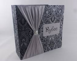 5x7 wedding photo album wedding photo album 4x6 5x7 or 8x10 personalized custom black
