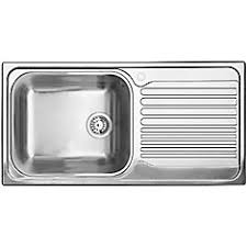 Blanco Single Bowl LeftHand Drainboard Topmount Stainless Steel - Kitchen sinks with drainboards
