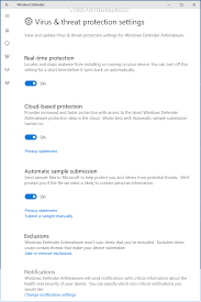 open windows defender security center in windows 10 windows 10