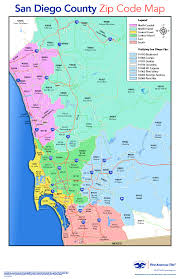 Map Of Los Angeles Zip Codes by San Diego County Zip Code Map Zip Code Map
