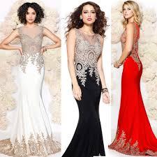 online shop sale mermaid evening dress black white red color