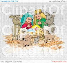 royalty free rf clipart illustration of a nativity scene of mary