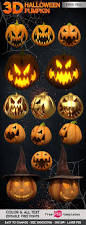 halloween pumpkin 3d render free stock images free psd templates