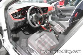 volkswagen polo interior 2018 vw polo gti interior dashboard at the iaa 2017 indian autos