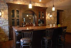 Bar Kitchen Table by Furniture Brown Wooden Built In Cabinet With Wine Storage Added