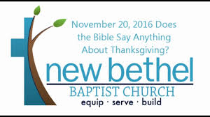 sermon does the bible say anything about thanksgiving