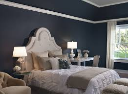 grey and navy blue bedroom home design ideas