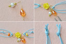 bracelet cord beads images Diy fashion wax cord bracelet with flower beads where to buy jpg