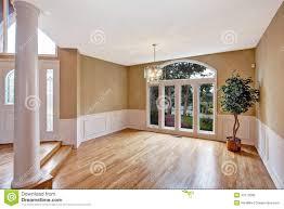 large hallway empty house new luxury home interior stock photos
