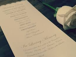 wedding ceremony booklet remembering a loved one at weddings prior