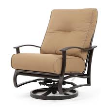 Swivel Outdoor Patio Chairs Mallin Albany Spring Swivel Club Chair Spectrum Caribou