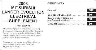 2009 mitsubishi lancer stereo wiring diagram evolution manual
