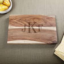engraved cutting boards hardwood classic monogram cutting board