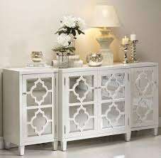 White Lacquer Credenza Sideboards Extraordinary Mirrored Sideboards And Buffets