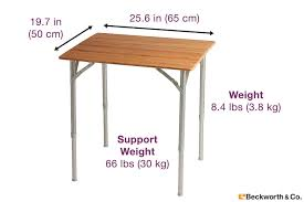 Standard End Table Height by Bamboo Portable Folding Picnic Table With Adjustable Height Standard
