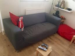 sofa klippan ikea klippan sofa with flackarp grey cover in grangetown