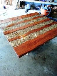 Make Wood Outdoor Table by 20140629 180823 River Stones Outdoor Tables And Epoxy
