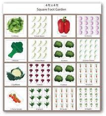Square Foot Garden Layout Ideas Sle Square Foot Vegetable Garden Plan Garden Pinterest