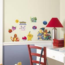 boys room decor ebay 24 new iconic pokemon peel stick wall decals boys room stickers pikachu decor