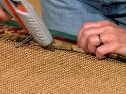 Painting A Jute Rug How To Make A Fabric Rug Border How Tos Diy