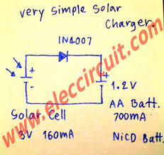 simple 1 2v aa battery solar charger circuit u2013 electronic projects